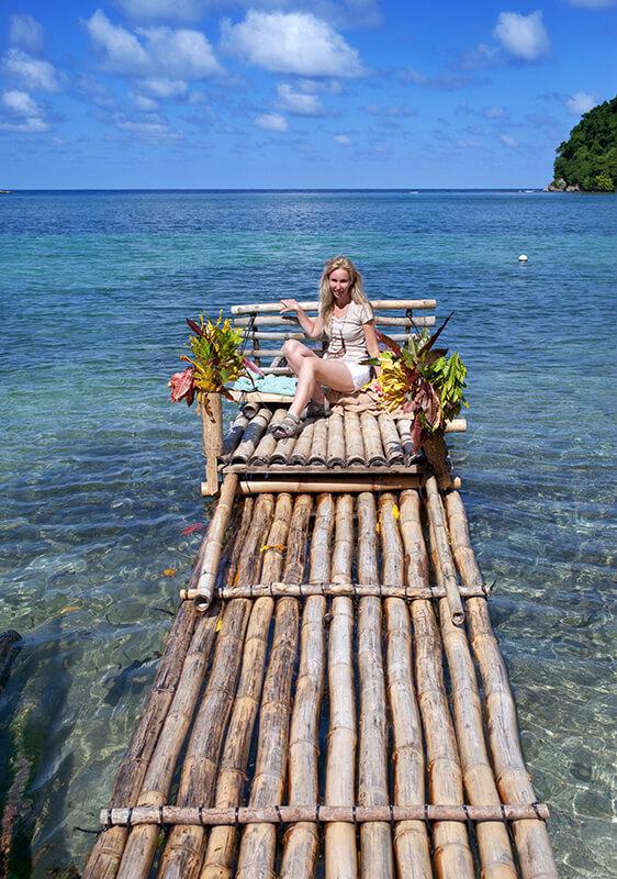 Bambusový raft, Jamajka